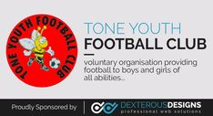 Here at Dexterous Designs we are proud to announce that we will be sponsoring the Tone Youth Football Club Under (established in Youth Football, Dexter, Boys, Girls, How To Find Out, Club, Learning, Men, Image