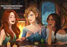 A Court Of Wings And Ruin, A Court Of Mist And Fury, Charlie Bowater, Sara J Maas, Feyre And Rhysand, Fanart, Magic Design, Sarah J Maas Books, Story Arc
