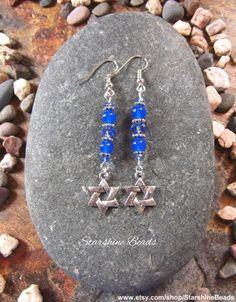 Star of David Earrings  Jewish Star Earrings by StarshineBeads