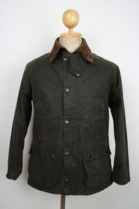 Superb BARBOUR Bedale WAX Jacket Dark Green Small