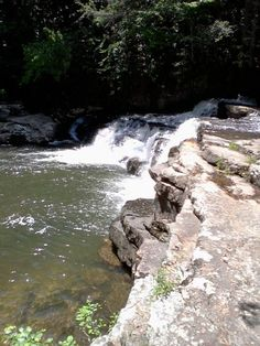 """Dismal Falls, Virginia: A near perfect """"step waterfall"""" near Pearisburg, Virginia and just off the Appalachian Trail.  Follow the creek up the mountain to find hidden camp sites and small pools to play in.  Be careful in high water ~ it has potential to rise quickly"""