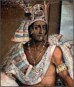 Moctezuma II segundo emperador del imperio azteca, 1520.