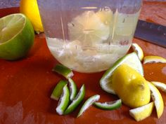 If you don't want your lime infused water to taste bitter, try cutting the rind off.  I tried removing it by using a peeler, and water taste a lot better without the bitterness.