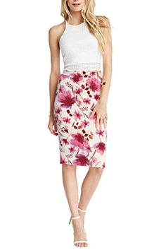 Womens Fashion Trendy Navy Floral Midi Pencil Knee High Classic Skirt USA IVYPKFL S  Special Offer: $24.00  277 Reviews A simplistic pencil skirt gets a romantic update with an allover floral print. It's constructed with a spandex-blend material for comfortable stretch and...