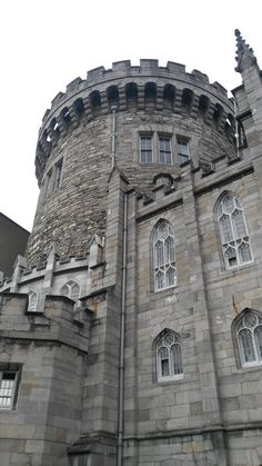 The Record Tower Dublin Castle. Dating from the early 13th century its walls are over 15ft thick.