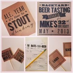 Mike's beer tasting birthday party was a backyard bash complete with friends, barbecue, and most importantly...beer and beer themed party swag!