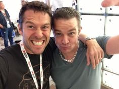 Alexis Denisof and James Marsters being goofy :-)