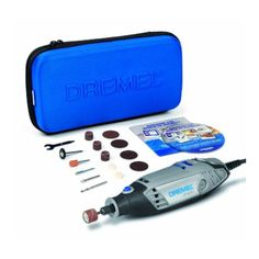 Dremel 3000 Rotary Drill Tool Kit with 15 Accessories from Eternal Tools.  Carve, grind, sand, polishingm drill and cut your rocks, stones and pebbles like you've never done before!  I swear by this drill, it's super handy and does lots of hobby related jobs.