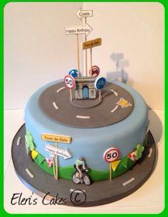 Road bike theme cake - Tour de France