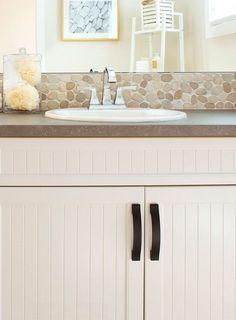 Kalua Madura Sands Pebbles Sands, Double Vanity, Backsplash, Bathroom, Washroom, Bathrooms, Bath, Double Sink Vanity