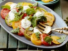 Heirloom Tomato Caprese Salad from CookingChannelTV.com