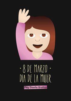 Día de la mujer Emoji - Ilustración Pdg Diseño Gráfico