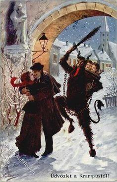 Krampus Postcards | Vintage Postcards Pocztówki STARE Cartes Postales
