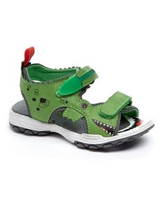 Look at this Green Alligator Light-Up Sandal on #zulily today!