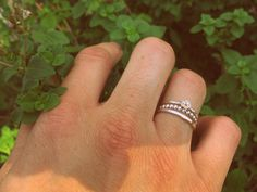 Sterling Silver Delicate Flower Stacking Ring Trio   Wear It Jewelry