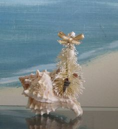 Little Seashell Christmas Tree in a Conch by CeShoreTreasures, $8.00
