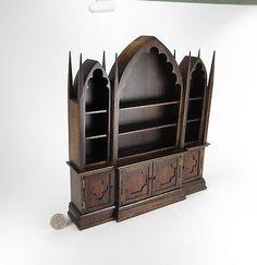 Miniature Dollhouse Gothic Bookcase OOAK | eBay