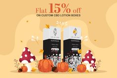 Get Flat 15% Discount till Thanksgiving Day on Custom CBD Lotion Boxes. With Free Shipping and Free Design Support. For more info: Call: 888-851-0765 Email: support@thecustompackaging.com