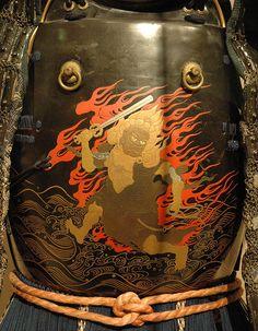 Fudo-Myo-Oh, on the Breastplate of Samurai Armour.