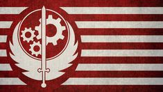Brotherhood of Steel Flag Fallout 4 Fallout Bos, Fallout Facts, Fallout Game, Wallpaper Space, Computer Wallpaper, Fallout Brotherhood Of Steel, Fallout Tattoo, Flag Art, Vintage Graphic Design