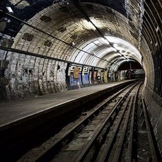 The abandoned Aldwych Underground station in London.
