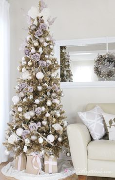 Urban Barn Champagne Christmas Tree by Pink Little Notebook