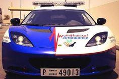 Dubai paramedic Lotus Evora