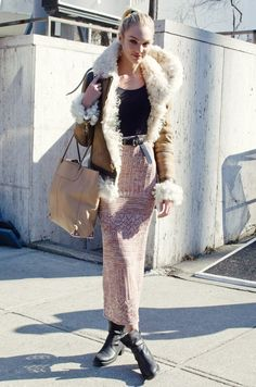 Shearling the Candice Swanepoel Way