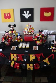 Micky Mouse Birthday the art is perfect for over our buffet table.... we just need one more