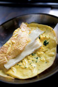 Lots-of-Herbs Omelet Stuffed w/ Brie