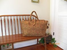 Multi Colored Paisley Tapestry Carpet Bag 95c/d  by SignsofWelcome, $55.00