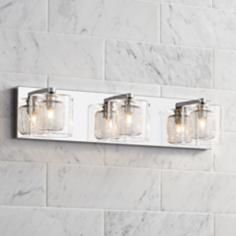 "Possini Euro Design Zatara 20 1/2"" Wide Chrome Bath Light"