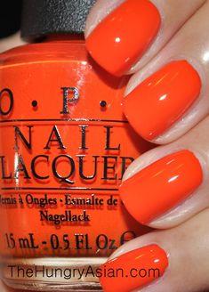 Opi Gel Nails, Opi Nail Polish Colors, Orange Nail Polish, Toe Nail Color, Nail Polish Art, Get Nails, Nail Polish Designs, Hair And Nails, Nail Polishes
