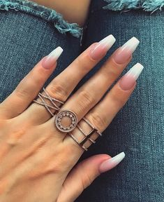 57 Hot White Acrylic Nails Designs 2018
