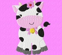 Pretty Cow 4X4: Breezy Lane Embroidery Machine Embroidery Design