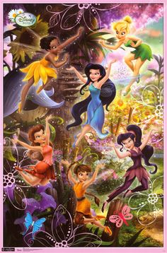 Trends International Tinker Bell Pixie Games Wall Poster inch x 34 inch Tinkerbell Movies, Tinkerbell And Friends, Tinkerbell Fairies, Tinkerbell Party, Tinkerbell Disney, Disney Princess, Hades Disney, Disney Art, Tinker Bell