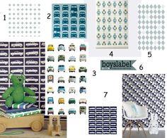 Behang Blauw tinten, kinderkamer behang, jongenskamer behang, autobehang, jongensbehang, jongenskamer voorbeelden, kinderkamer styling