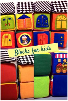 These blocks are a multi-stage toy for babies and toddlers. When Matti was 6 month, we purchased these soft blocks. Baby Toys, Kids Toys, Kids Blocks, Small World, Toddlers, Stage, Babies, Children, Childhood Toys