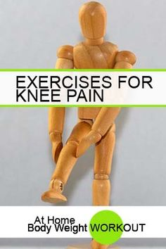 Exercises for Knee Pain - At Home Body Weight Workout Improve Mental Health, Good Mental Health, Home Body Weight Workout, Strength Training For Runners, Knee Exercises, Stretches, Group Fitness, Knee Pain, Weight Loss For Women