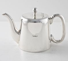 Vintage hotel silver: CLARIDGE'S TEA POT MEDIUM, 1960's London,silver-plated