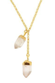 Double Rock Quartz Necklace on HauteLook