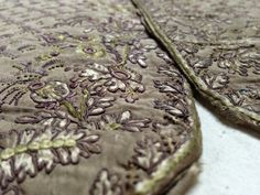 Embroidery Detail, 1780-90 Waistcoat