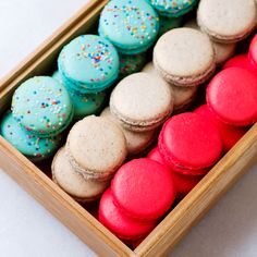 variety of house-made macarons available at our Canteen in Chicago's West Town Sour Plum, Lunch Delivery, Greens Restaurant, How To Make Macarons, Green Farm, West Town, Cute Cafe, Catering Companies, Breakfast Burritos