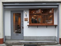 be myself coffee stand [初台] 店舗デザイン. Contemporary Interior Design, Shop Interior Design, Store Design, Interior Design Living Room, Facade Design, House Design, Shop Facade, Cafe Concept, Coffee Stands