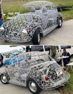 How many #Repins for this craziest Transparent #Beetle #car?