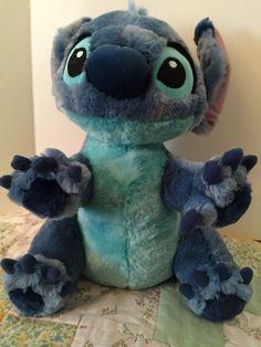 "Lilo & Stitch Disney Park World 12"" STITCH Sitting Beanbag Soft Plush Animal Toy #Disney"