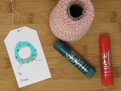 christmas tags with Kwik Stix