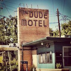 The Dude Motel in Haltom City, Texas (north Fort Worth area) by MOLLYBLOCK, via Flickr