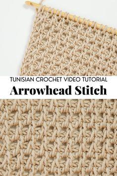 Crochet Cow, Crochet Yarn, Crochet Hooks, Tunisian Crochet Patterns, Tunisian Crochet Blanket, Knitting Patterns, Different Crochet Stitches, Crochet Dishcloths, Crochet Videos