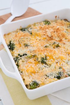 Broccoli Cheddar Brown Rice Casserole